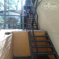 """Солнечный Место у входа в столовую. Лестница к туалетной комнате пансионата """"Солнечный"""" - Фото отеля"""