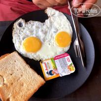 Morjim Coco Palms 3* завтрак - Фото отеля